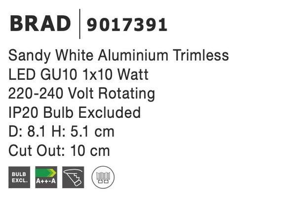 Nova Luce NL-9017391 Brad beépíthetõ lámpa