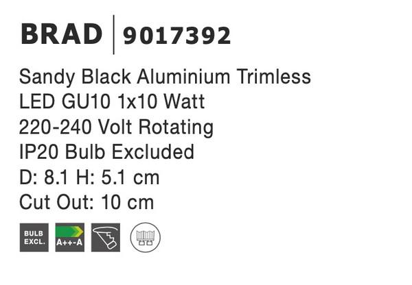 Nova Luce NL-9017392 Brad beépíthetõ lámpa