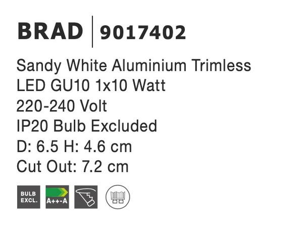 Nova Luce NL-9017402 Brad beépíthetõ lámpa