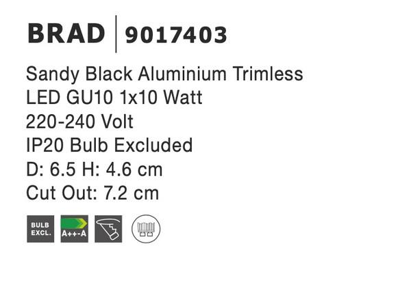 Nova Luce NL-9017403 Brad beépíthetõ lámpa