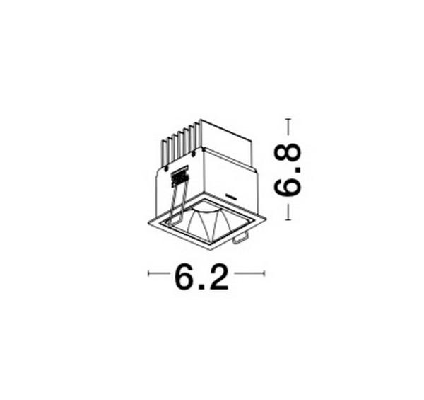 Nova Luce NL-9050920 Sorel beépíthetõ lámpa
