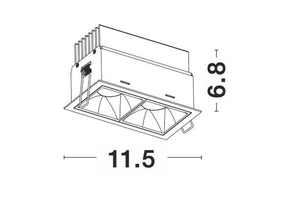 Nova Luce NL-9065023 Sorel beépíthetõ lámpa