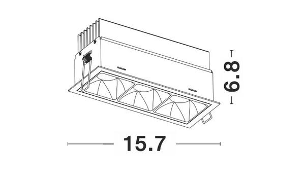 Nova Luce NL-9065121 Sorel beépíthetõ lámpa