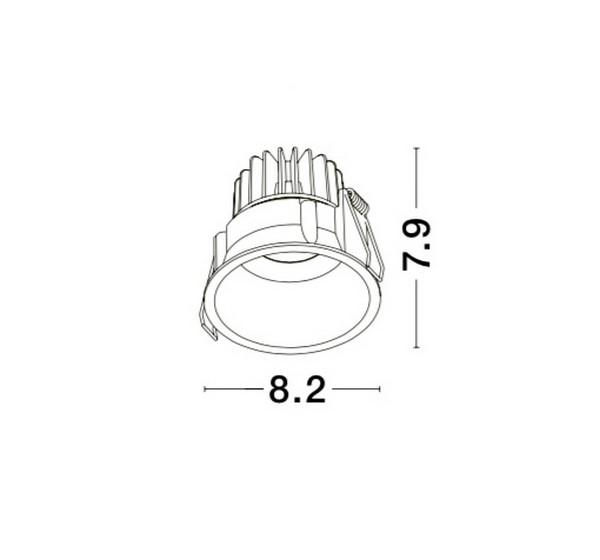 Nova Luce NL-9071021 Selene beépíthetõ fürdõszobai lámpatest