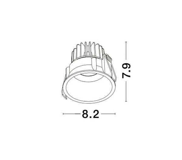 Nova Luce NL-9071022 Selene beépíthetõ fürdõszobai lámpatest
