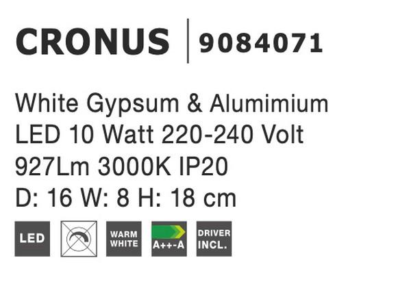 Nova Luce NL-9084071 Cronus LED fali lámpa