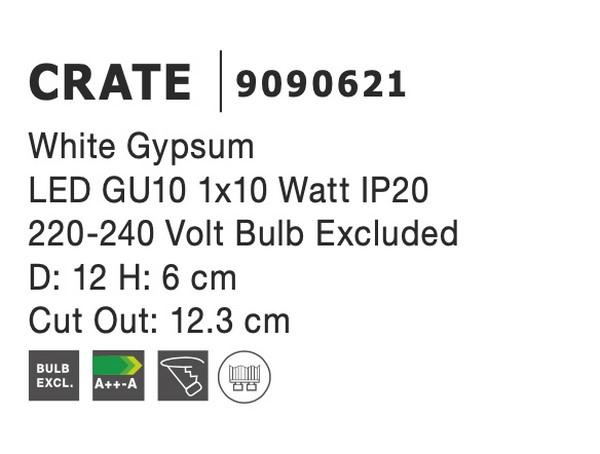 Nova Luce NL-9090621 Crate süllyeszthetõ lámpa