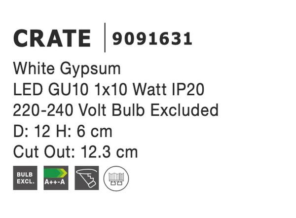 Nova Luce NL-9091631 Crate süllyeszthetõ lámpa
