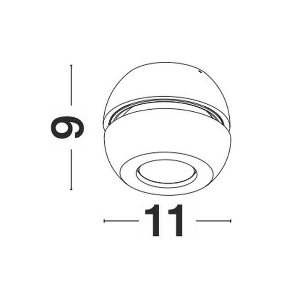 Nova Luce NL-9105101 Gon LED spotlámpa