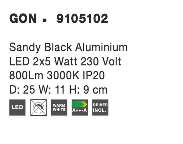 Nova Luce NL-9105102 Gon LED spotlámpa