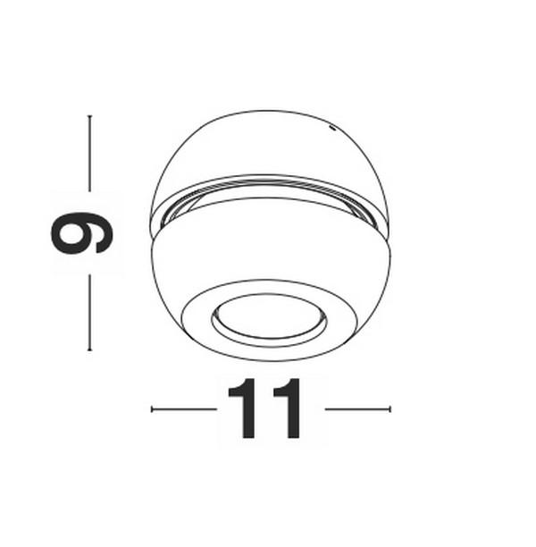 Nova Luce NL-9105201 Gon LED spotlámpa