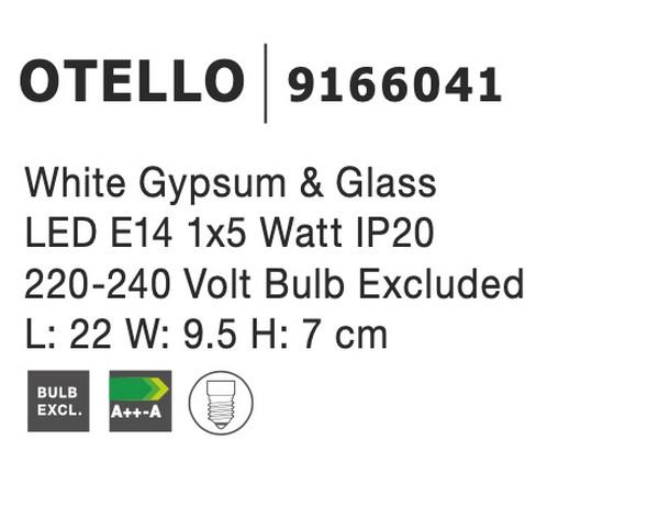 Nova Luce NL-9166041 Otello fali lámpa