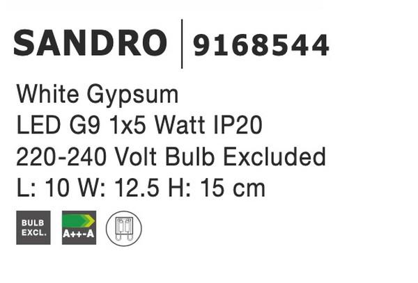 Nova Luce NL-9168544 Sandro fali lámpa
