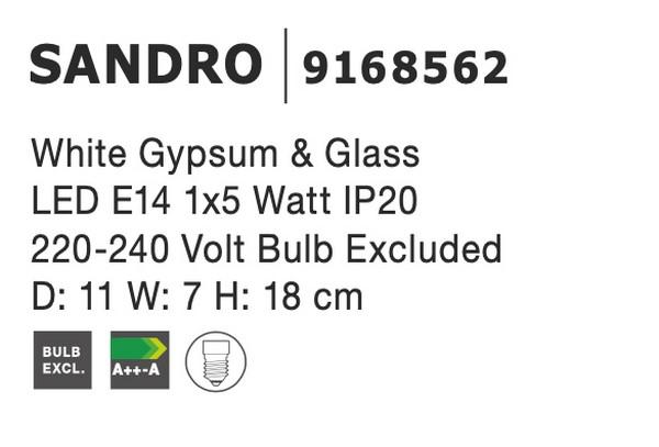 Nova Luce NL-9168562 Sandro fali lámpa