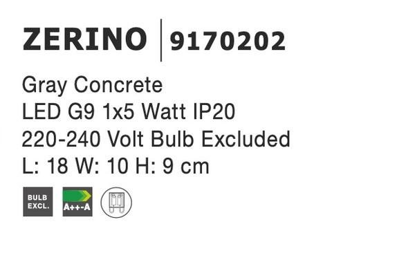 Nova Luce NL-9170202 Zerino fali lámpa