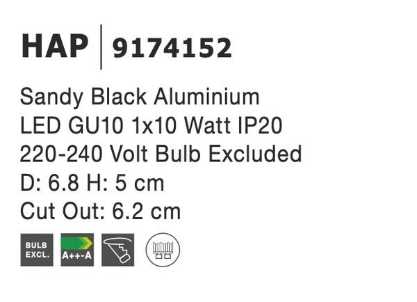 Nova Luce NL-9174152 Hap beépíthetõ lámpa