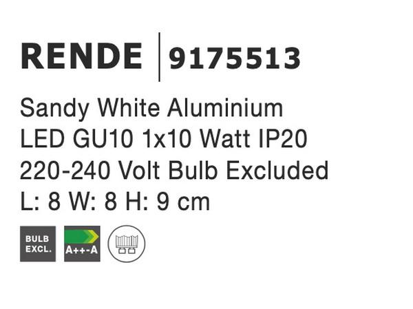 Nova Luce NL-9175513 Rende mennyezeti lámpa