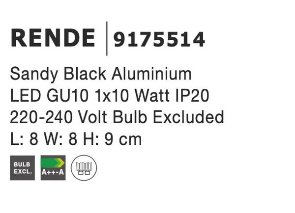 Nova Luce NL-9175514 Rende mennyezeti lámpa