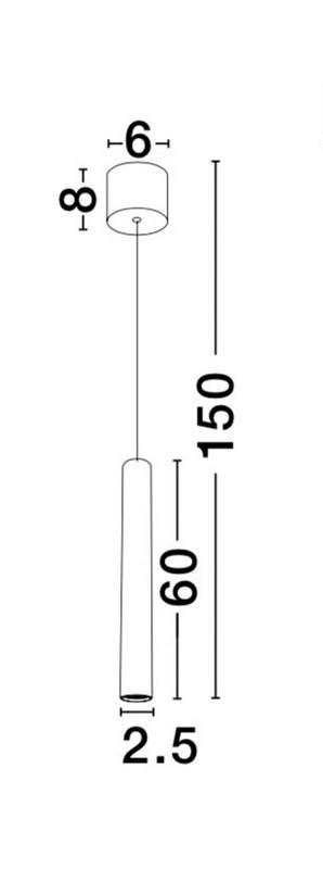 Nova Luce NL-9184021 Ultrathin függeszték