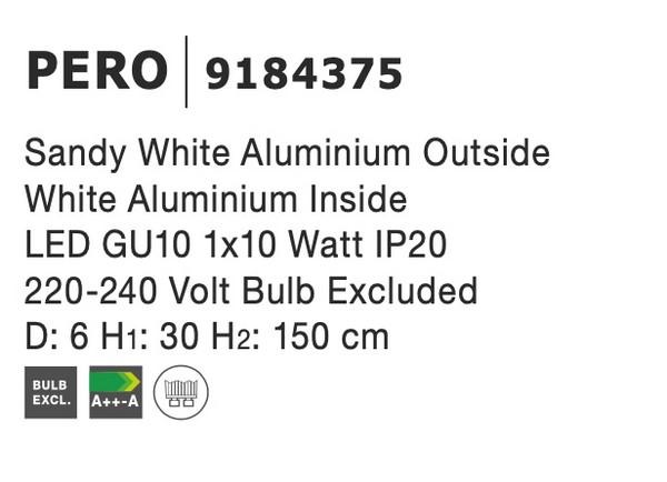 Nova Luce NL-9184375 Pero függeszték