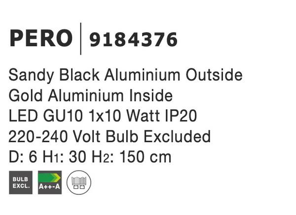 Nova Luce NL-9184376 Pero függeszték