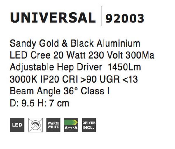 Nova Luce NL-92003 Universal LED spotlámpa
