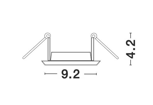 Nova Luce NL-9350444 Take süllyeszthetõ lámpa