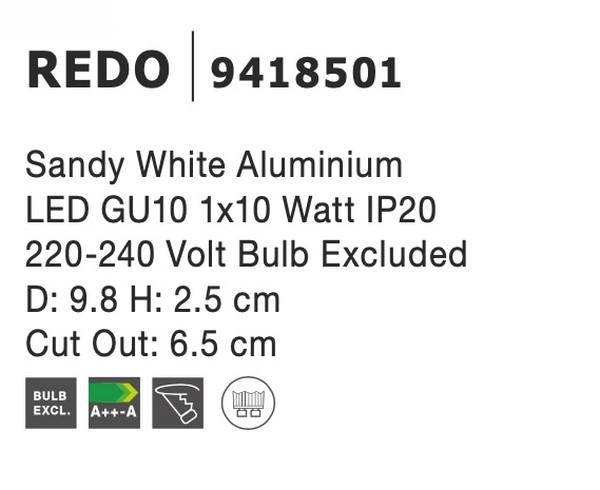 Nova Luce NL-9418501 Redo süllyeszthetõ lámpa