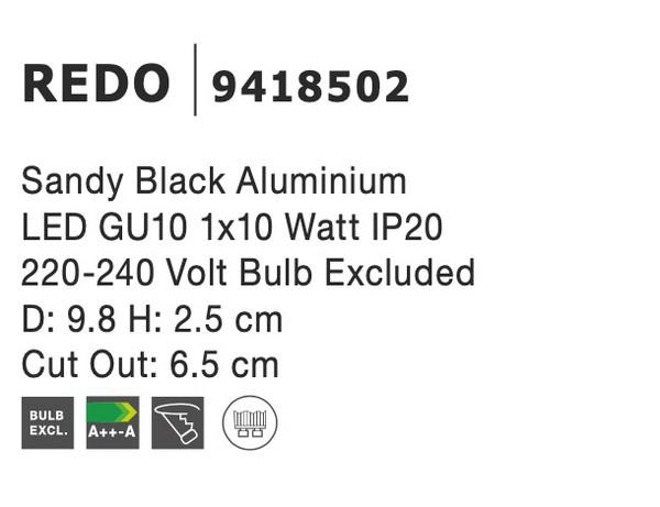 Nova Luce NL-9418502 Redo süllyeszthetõ lámpa