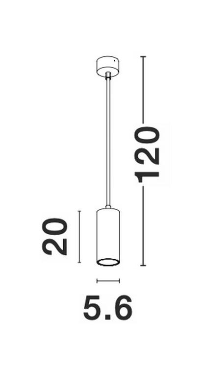Nova Luce NL-9419422 Aila függesztett lámpa