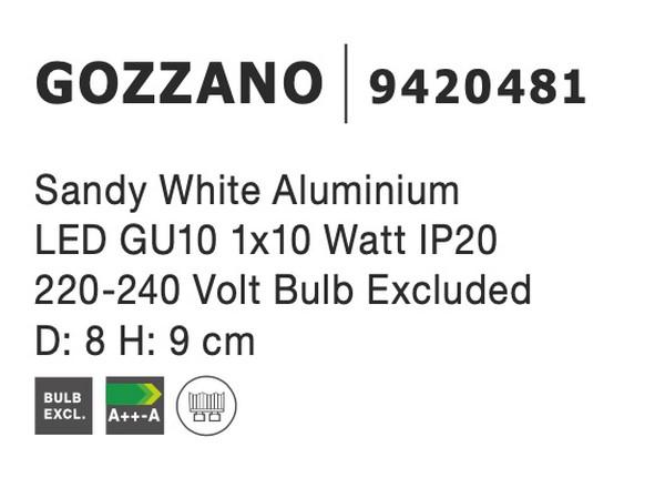 Nova Luce NL-9420481 Gozzano spotlámpa