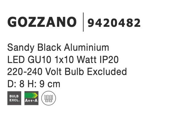 Nova Luce NL-9420482 Gozzano spotlámpa