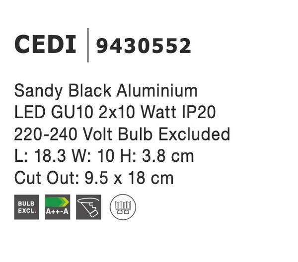 Nova Luce NL-9430552 Cedi süllyeszthetõ lámpa