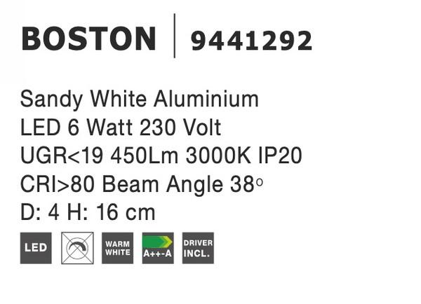 Nova Luce NL-9441292 Boston LED spotlámpa