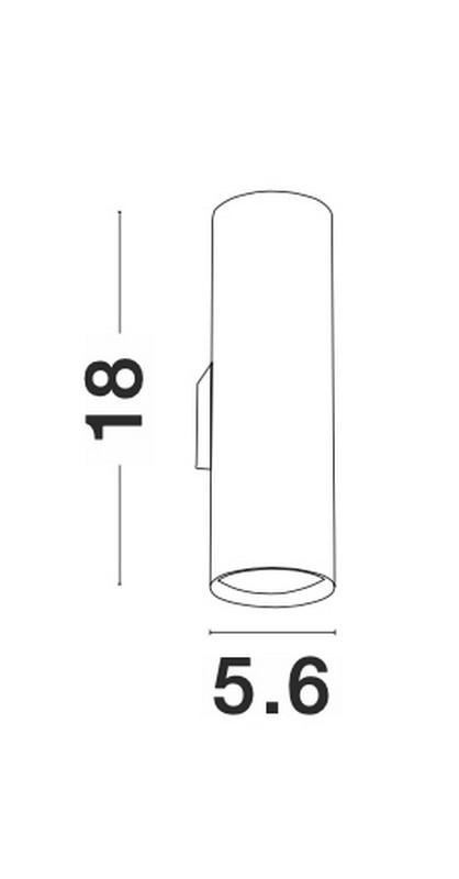 Nova Luce NL-9450882 Nosa fali lámpa