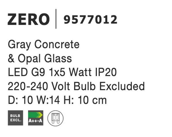 Nova Luce NL-9577012 Zero fali lámpa