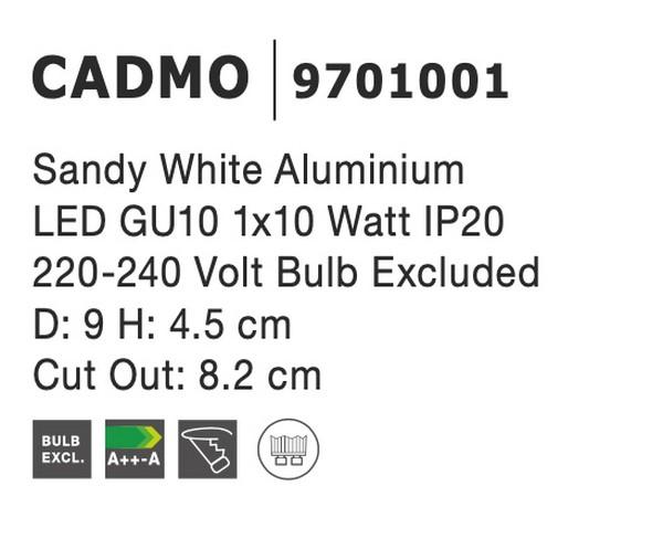 Nova Luce NL-9701001 Cadmo beépíthetõ lámpa