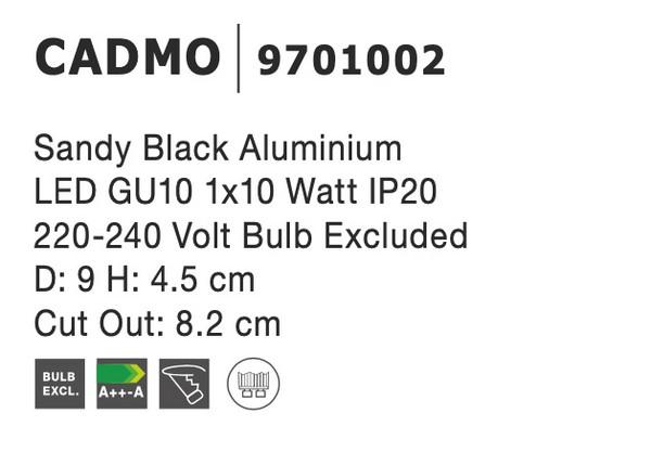 Nova Luce NL-9701002 Cadmo beépíthetõ lámpa