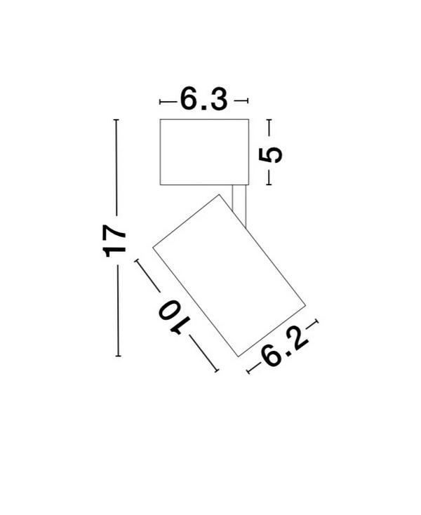 Nova Luce NL-9720101 Miniair spotlámpa