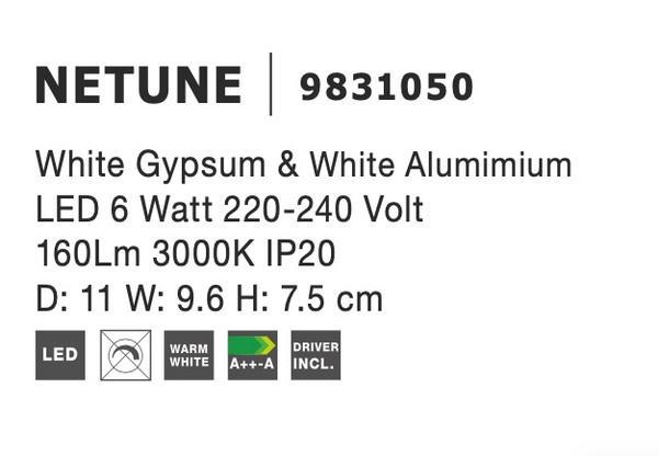 Nova Luce NL-9831050 Netune LED fali lámpa