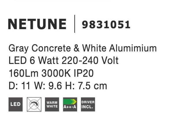 Nova Luce NL-9831051 Netune LED fali lámpa