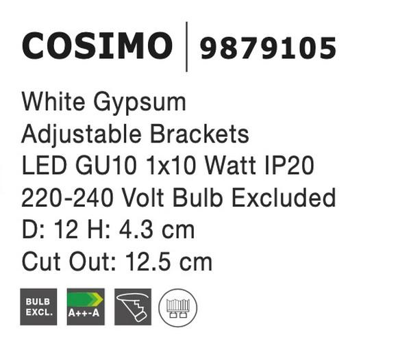 Nova Luce NL-9879105 Cosimo beépíthetõ lámpa