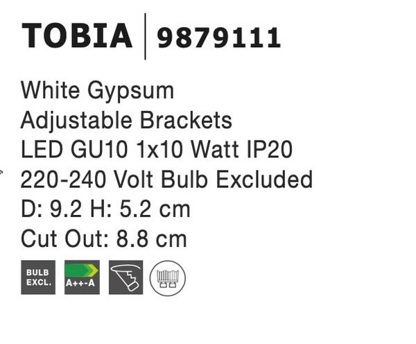 Nova Luce NL-9879111 Tobia beépíthetõ lámpa