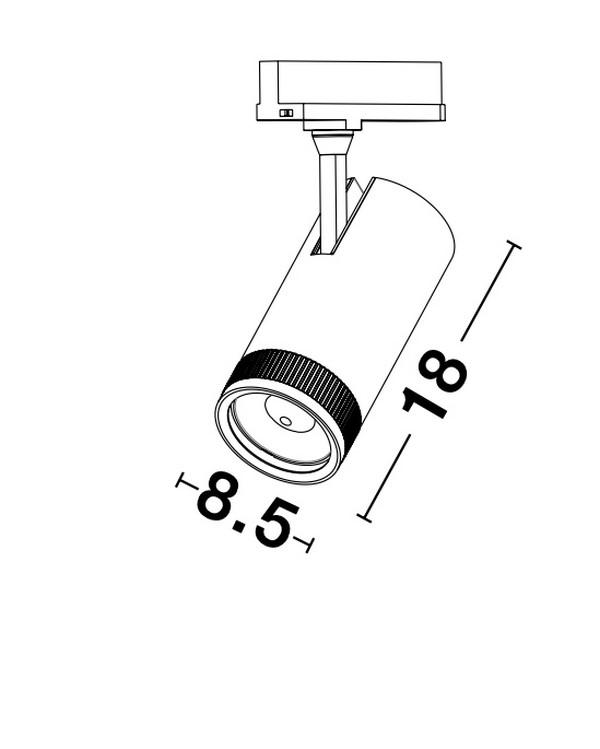 Nova Luce NL-9913073 Kors LED sínrendszeres lámpa