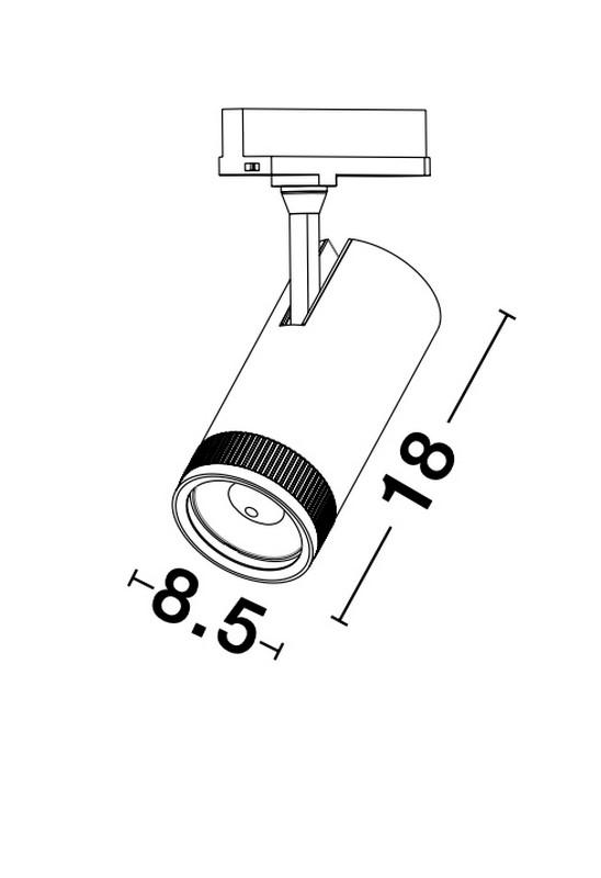 Nova Luce NL-9913074 Kors LED sínrendszeres lámpa