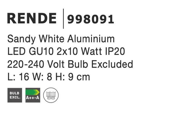 Nova Luce NL-998091 Rende spotlámpa