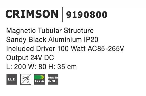 Nova Luce NL-9190800 Decorative Crimson függesztett sínrendszer