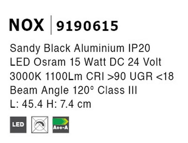 Nova Luce NL-9190615 Decorative Nox LED sínrendszeres lámpa