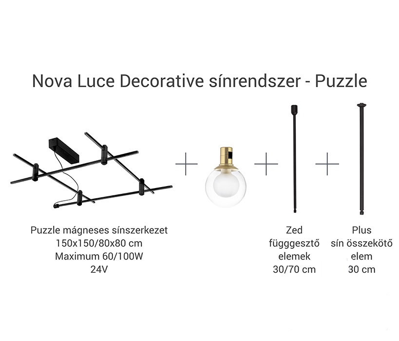 Nova Luce NL-9180566 Decorative Puzzle sín szerkezet