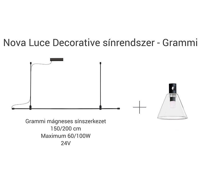 Nova Luce NL-9090291 Decorative Cocktail sínrendszeres lámpafej